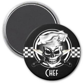 Chef Skull 4 7.5 Cm Round Magnet
