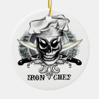 Chef Skull 4: Iron Chef Christmas Ornament
