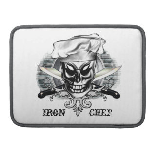 Chef Skull 4: Iron Chef Sleeve For MacBooks