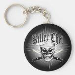 Chef Skull 4: Killer Chef Basic Round Button Key Ring