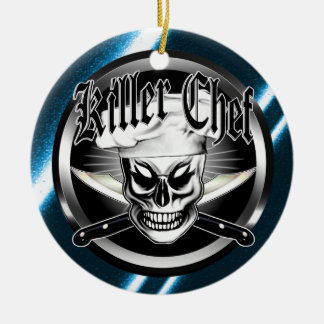 Chef Skull 4: Killer Chef Christmas Ornament