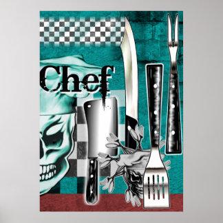 Chef Skull 4 Poster