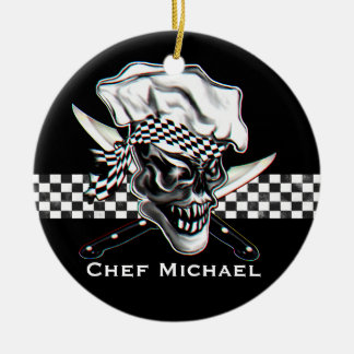Chef Skull 5 Christmas Ornament