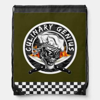 Chef Skull 5 Drawstring Bag