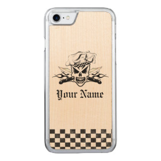 Chef Skull adn Flaming Chef Knives 2 Carved iPhone 7 Case