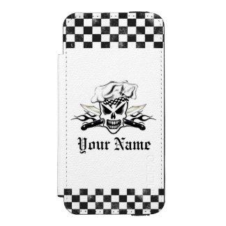 Chef Skull adn Flaming Chef Knives 2 Incipio Watson™ iPhone 5 Wallet Case