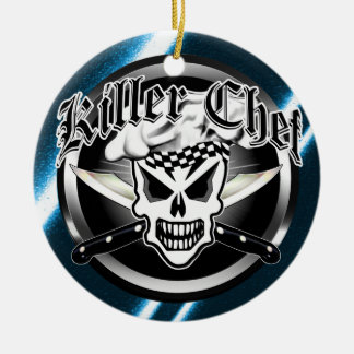 Chef Skull and Crossed Chef Knives 2 Christmas Ornament