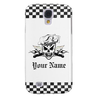 Chef Skull and Flaming Chef Knives 2 Galaxy S4 Case