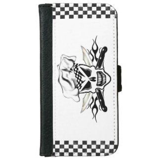 Chef Skull and Flaming Chef Knives 2 iPhone 6 Wallet Case