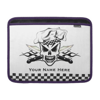 Chef Skull and Flaming Chef Knives 2 MacBook Sleeves