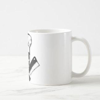 Chef Skull (B&W) Basic White Mug