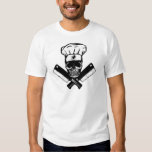 Chef Skull (B&W) T Shirts