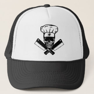 Chef Skull (B&W) Trucker Hat