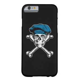 Chef Skull Crossbones: Blue Barely There iPhone 6 Case