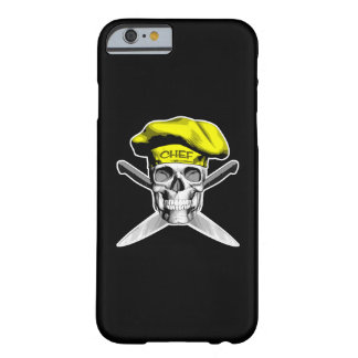 Chef Skull Crossed Knives Yellow Barely There iPhone 6 Case