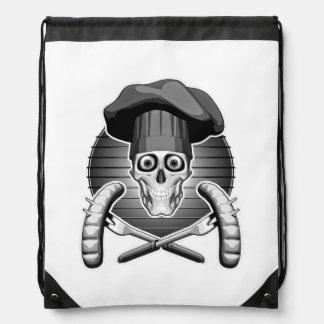 Chef Skull: Grilling Drawstring Bag