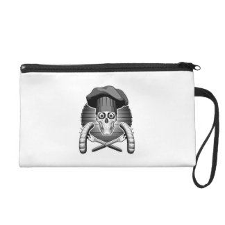 Chef Skull: Grilling Wristlet Clutches