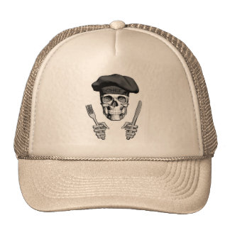Chef Skull: Knife and Fork Cap