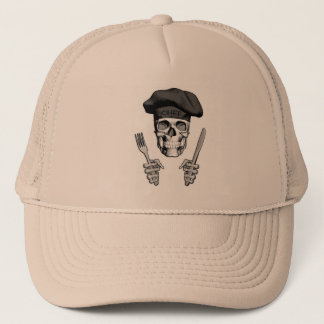 Chef Skull: Knife and Fork Trucker Hat