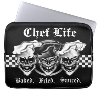 Chef Skull Laptop Sleeve: Chef Life
