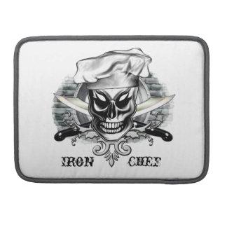Chef Skull Macbook Pro Sleeve Iron Chef