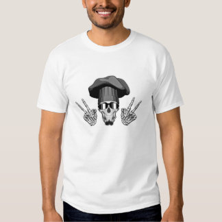 Chef Skull: Peace Sign Tee Shirts