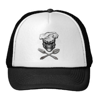 Chef Skull with fork and spoon Trucker Hat