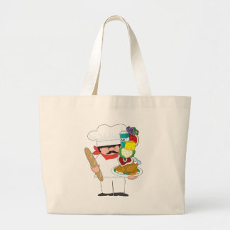 Chef Stack Large Tote Bag