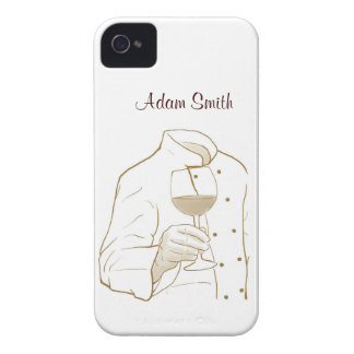 Chef Suit and Wine iPhone 4 Covers