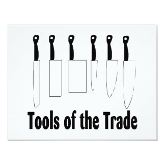Chef Tools of the Trade Knives 11 Cm X 14 Cm Invitation Card