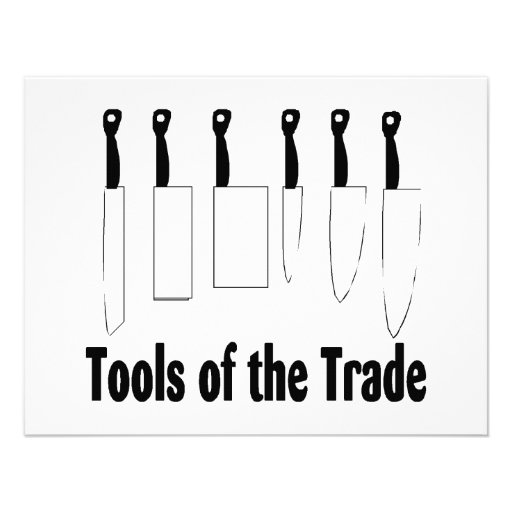 Chef Tools of the Trade Knives Invitations