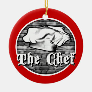 Chef Toque Round Ceramic Decoration