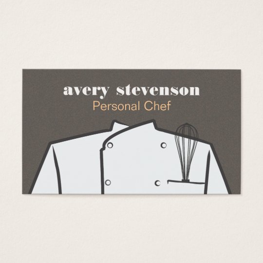 Chef Uniform and Whisk Catering Business Card