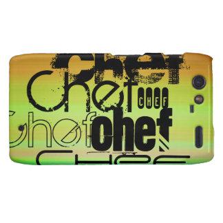 Chef; Vibrant Green, Orange, & Yellow Motorola Droid RAZR Covers