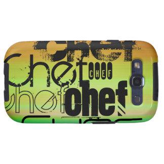 Chef; Vibrant Green, Orange, & Yellow Galaxy S3 Case
