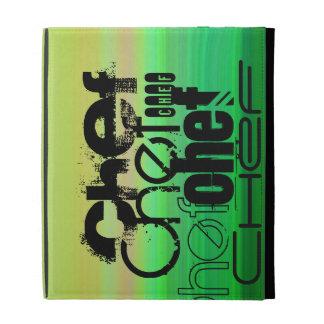 Chef; Vibrant Green, Orange, & Yellow iPad Folio Covers