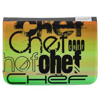 Chef; Vibrant Green, Orange, & Yellow Kindle Keyboard Covers