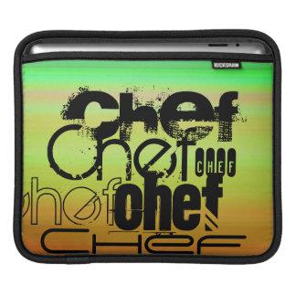 Chef; Vibrant Green, Orange, & Yellow iPad Sleeve