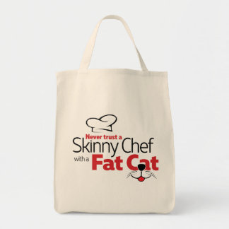 Chef with Fat Cat - Grocery Tote