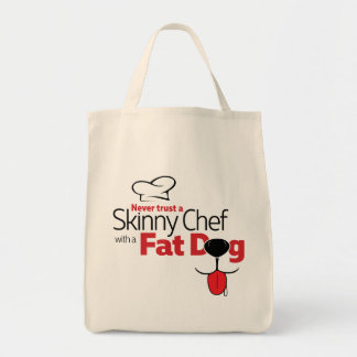 Chef with Fat Dog - Grocery Tote