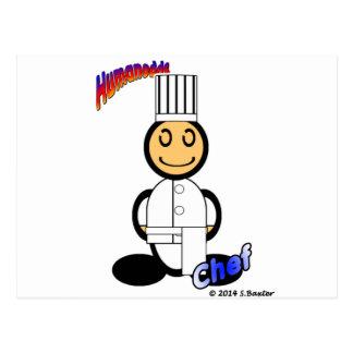 Chef (with logos) postcard