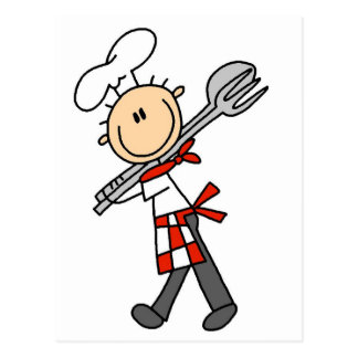 Chef with Salad Tongs Tshirts and Gifts Postcard