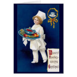 Chef with Tureen of Soup and Fruit Thanksgiving Cards