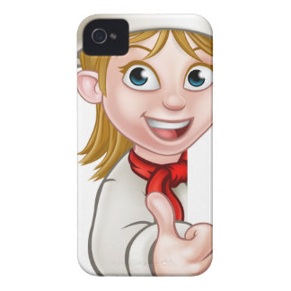 Chef Woman Cartoon Cook Case-Mate iPhone 4 Cases