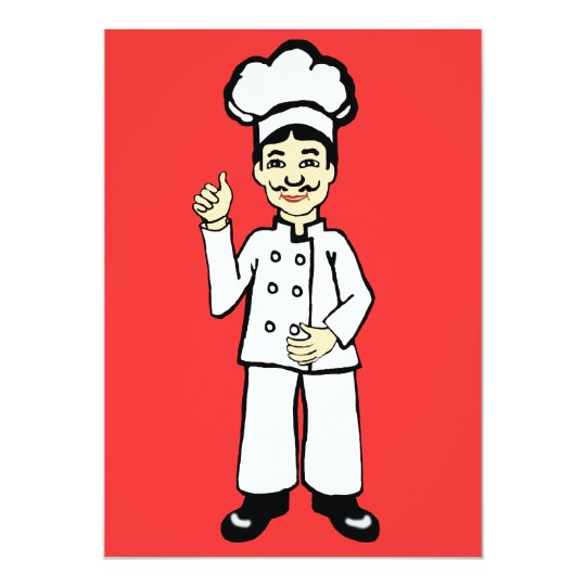 Chef's hat card