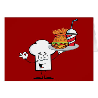 Chefs Hat Character Greeting Card