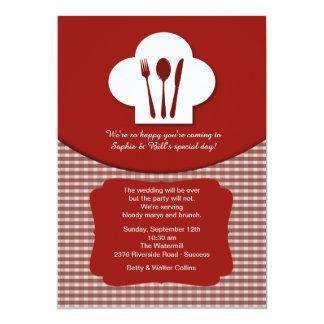 Chef's Hat (Red) Post Wedding Brunch Invitation