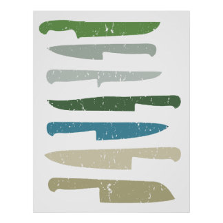 Chef's knives poster
