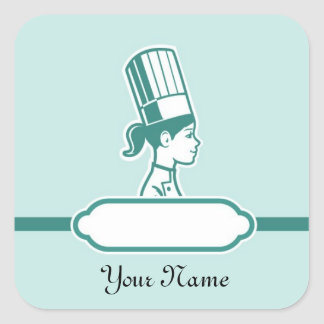 Chef's Personalized Large Labels Square Sticker