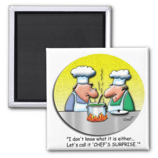 Chef's Surprise Square Magnet